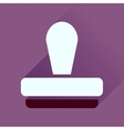 Flat icon with long shadow stamp office vector image