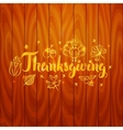 Thanksgiving over Wooden Board vector image