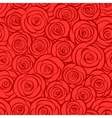 Seamless abstract red roses background vector image vector image