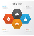 air icons set collection of sun-cloud sun vector image