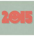 2015 retro card design vector image