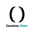 Colorful orbit logo vector image vector image