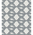 Vintage style circles and waves seamless pattern vector image