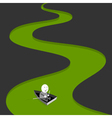 Green river vector image