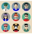 Set of avatars vector image vector image