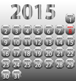 Calendar for march 2015 vector image