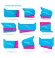 set of colorful origami paper banners vector image
