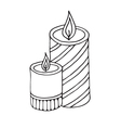 Burning candles icon vector image