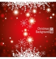 christmas background snowflake star light red vector image