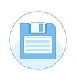 floppy disk line icon diskette vector image