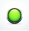 green round button vector image