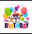 handdrawn doodle birthday card templatewith vector image