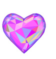Pink heart isolated on white background Geometric vector image