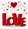 red letters love vector image