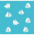 Ship and sea wave vector image