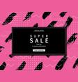 super sale banner eps 10 vector image