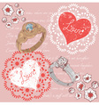 Valentine romantic retro greeting postcard vector image