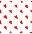 Valentine texture with red hearts vector image