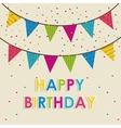 pennants happy birthday design vector image