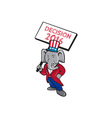 Republican Elephant Mascot Decision 2016 Placard vector image