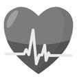 Heartbeat icon gray monochrome style vector image