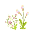 Ice-Cream And Hard Candy Flowers Fantasy Candy vector image