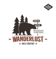 Vintage wild emblem Retro wilderness patch vector image