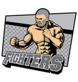 fighter ready for fighting vector image