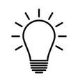 light bulb line icon idea sign vector image