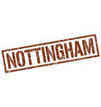 nottingham brown square stamp vector image