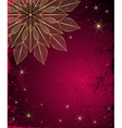 Dark red grungy Christmas frame vector image