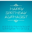 Hand-drawn alphabet letters happy birthday design vector image vector image