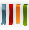 bookmarks set vector image vector image
