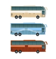 Set of diffirent buses vector image
