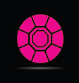 diamond pink on black background vector image