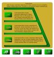 Infographics pyramid level horizontal vector image