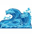 abstract sea wave vector image