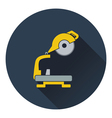 Icon of circular end saw vector image