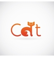 Cat Concept Symbol Icon or Logo Template vector image