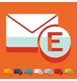 Flat design email vector image