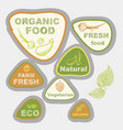 icons labels on the theme of ecology vector image
