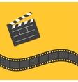 Open movie clapper board template icon Film strip vector image