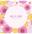 pink field flowers frame seamless pattern vector image