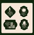 poster happy saint patricks day of emblem set with vector image