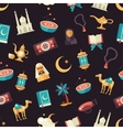 Seamless pattern with islamic culture icons vector image