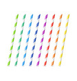striped colorful drinking straws vector image