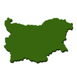 map of bulgaria vector image