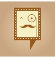symbol hipster monocle and mustache icon vector image