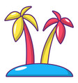 tropical island icon cartoon style vector image