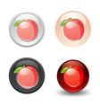 peach button set web 20 icons vector image